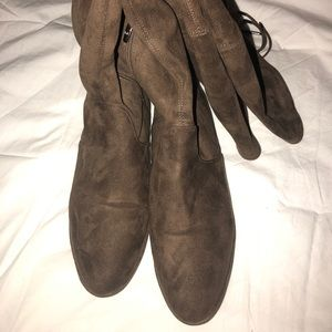 Marc Fisher over the knee suede boots